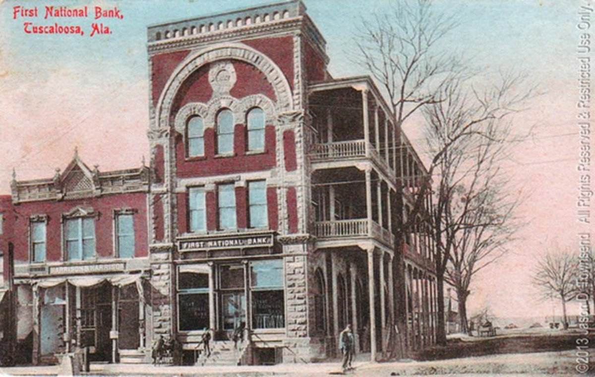 Here it is when it was the First National Bank.