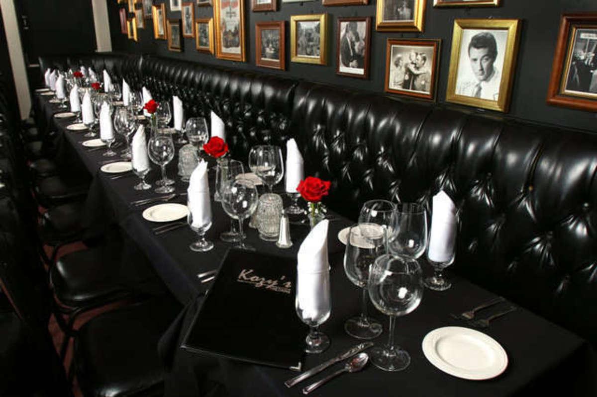 Inside Kozy's Restaurant and Courtyard