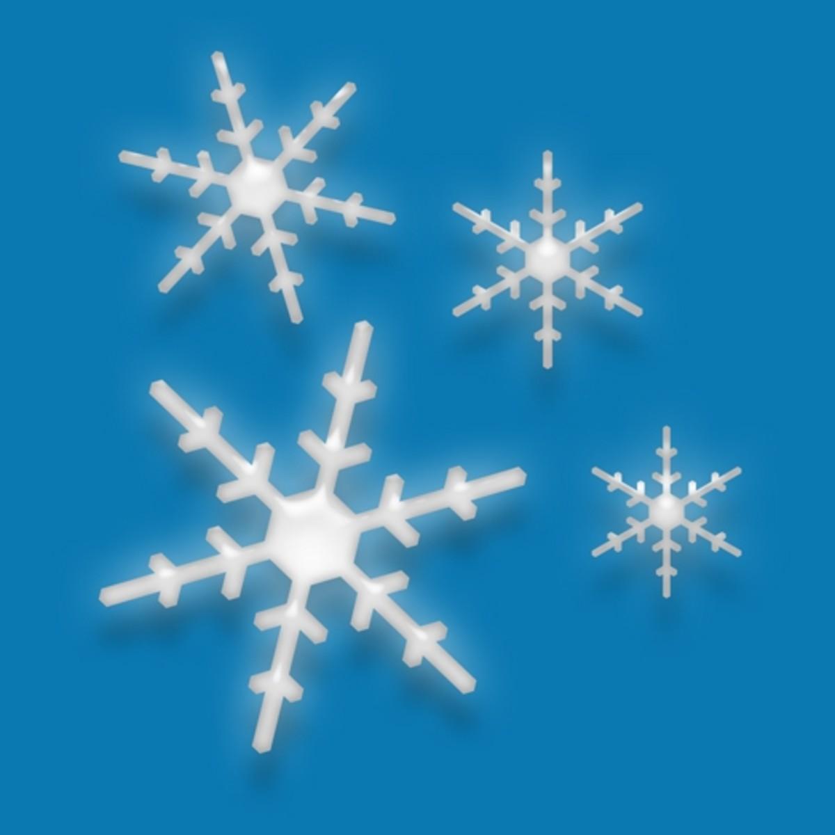 Winter Clip Art Snowflakes 3