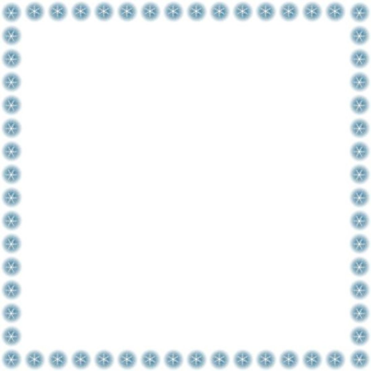 Free Snowflakes Clip Art Frame - Right Click Image & Save As