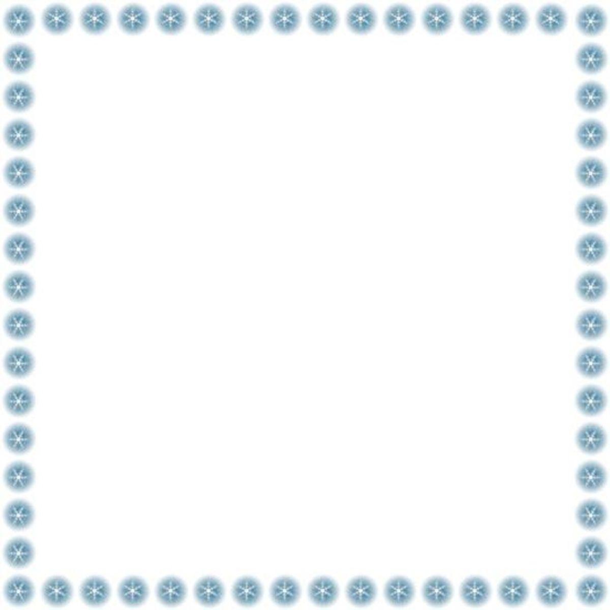 Snowflakes Clip Art Frame Free