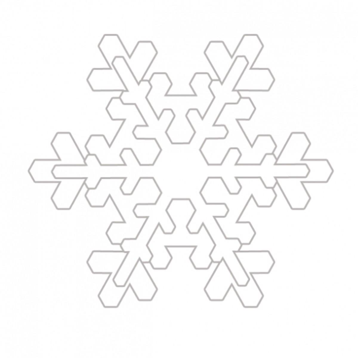 Free Winter Snowflake Coloring Image