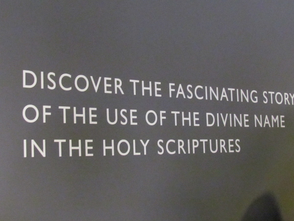 This information encourages use of the divine name in the Holy Scriptures.