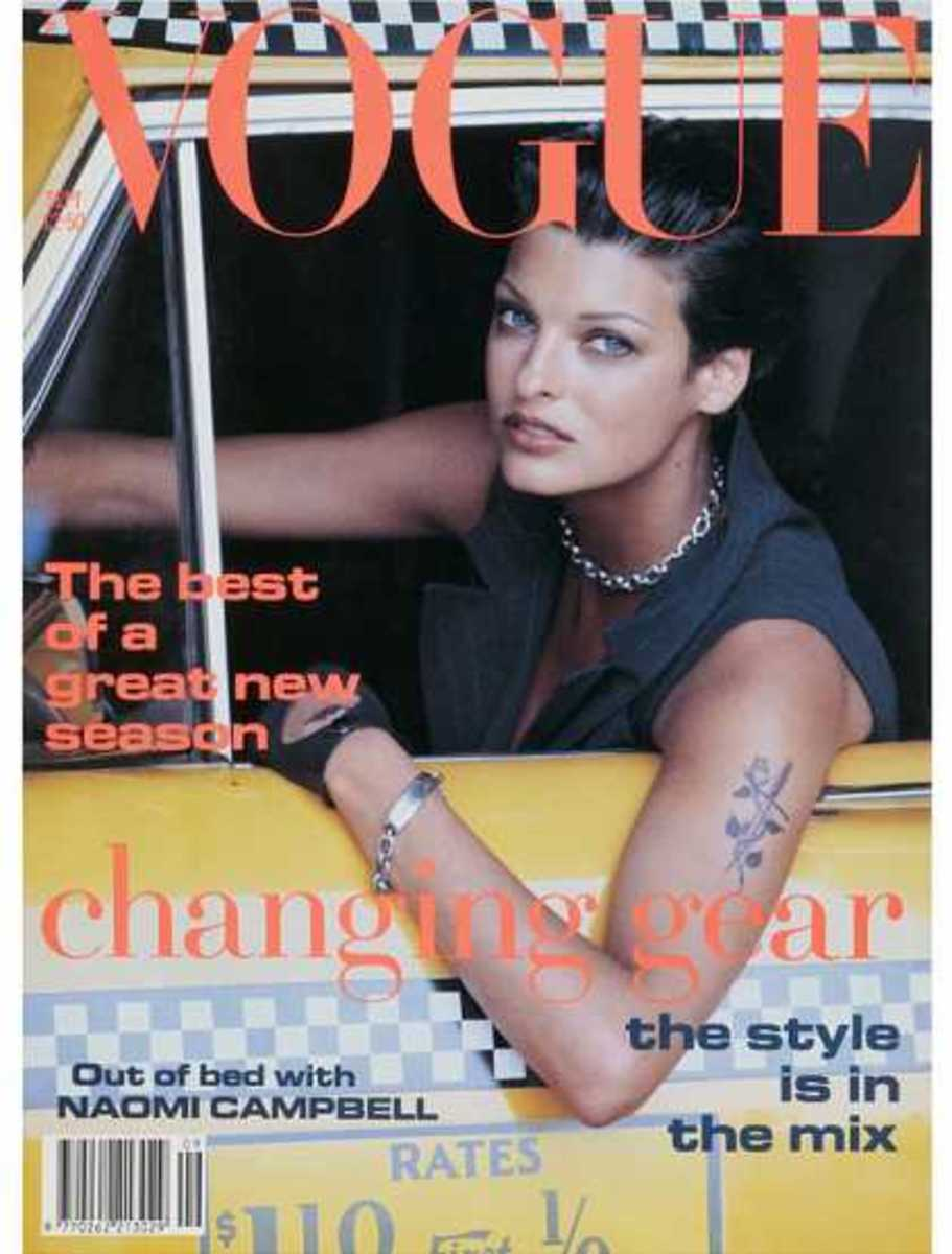 Linda Evangelista September 1992: One of my favorite models of the 90's. Probably second to Cindy Crawford!
