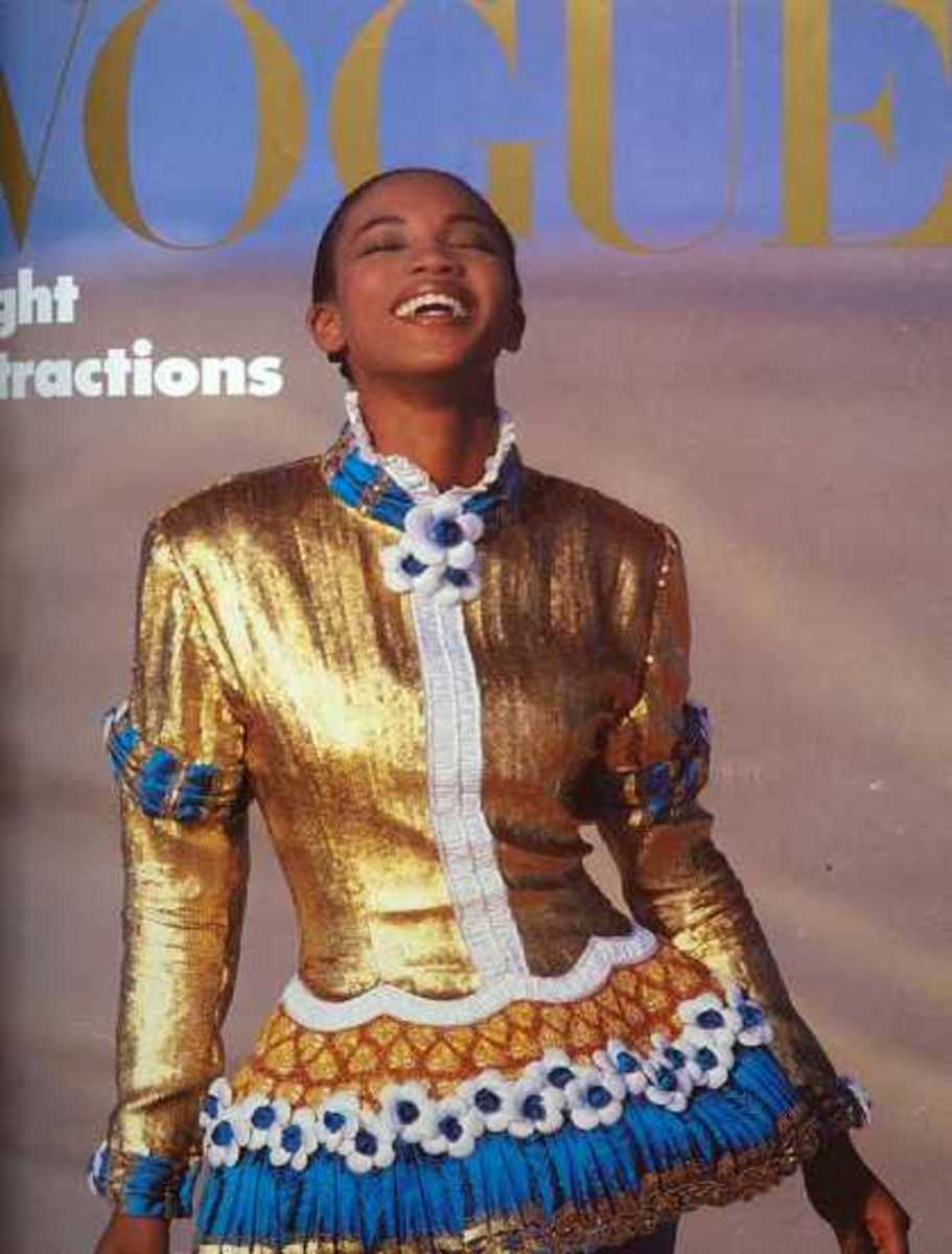 Naomi Campbell December, 1987: What I noticed as the covers were getting older is the difference of impact when the frame is of just the face or the whole body. It's interesting to see what we notice first.