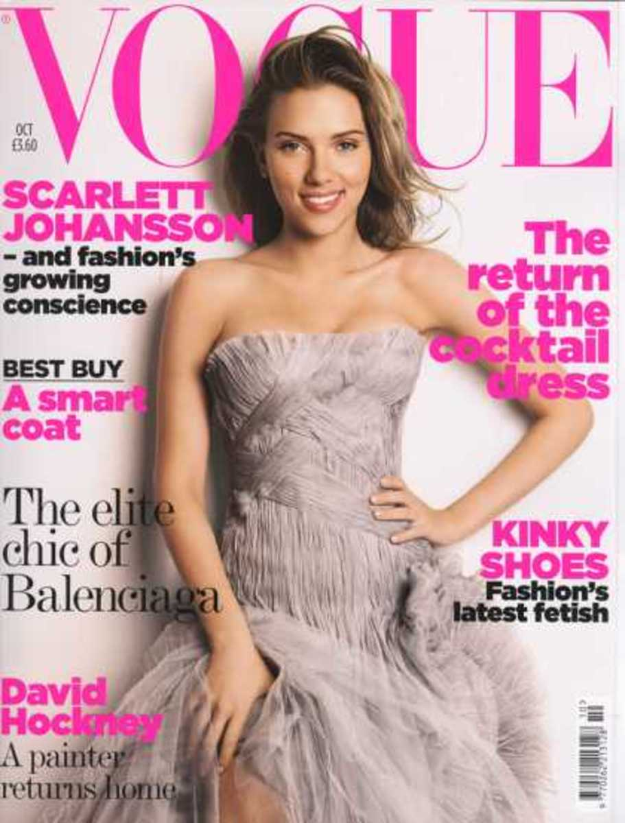 Scarlett Johanssen October 2006: In this decade (current) I notice a lot of headings on the cover. This is a drastic change from the past. I guess woman readers want more words!
