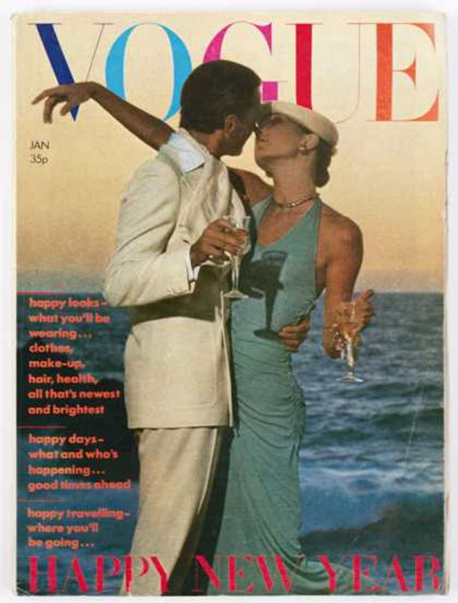 New Years, January 1974: Rarely is a man featured on the cover of Vogue nowadays. The only famous men to grace the covers of American Vogue? Richard Gere, George Clooney and LeBron James!