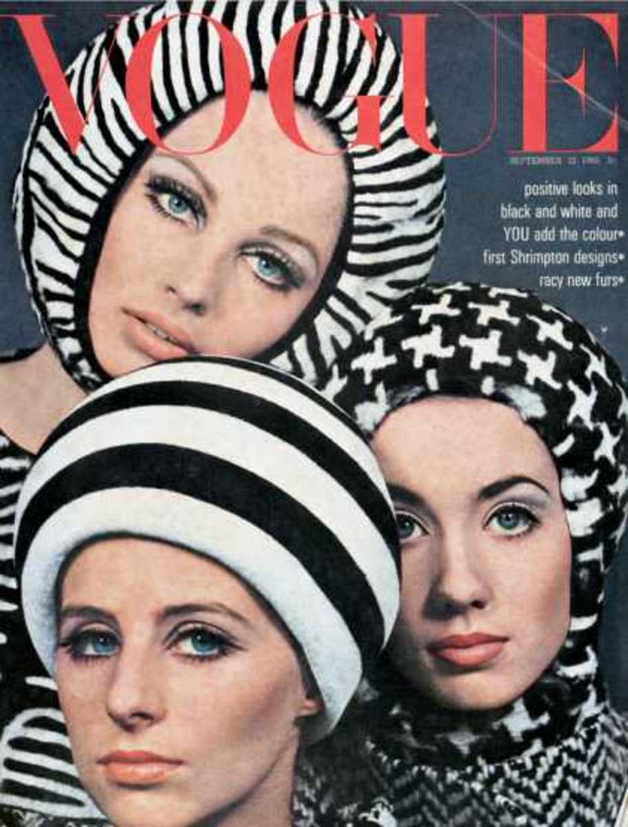 September, 1965: I notice in the 60's there's a great headgear trend going on. I think it's because of the trend of bobbed hair. And bobs look great with head pieces!