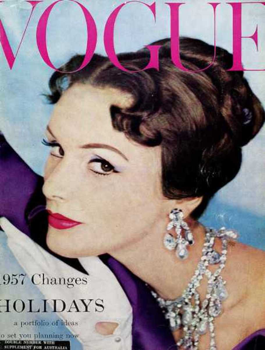 January, 1957: I love this cover because of the elegance. I wish the 50's gloves trend would come back!
