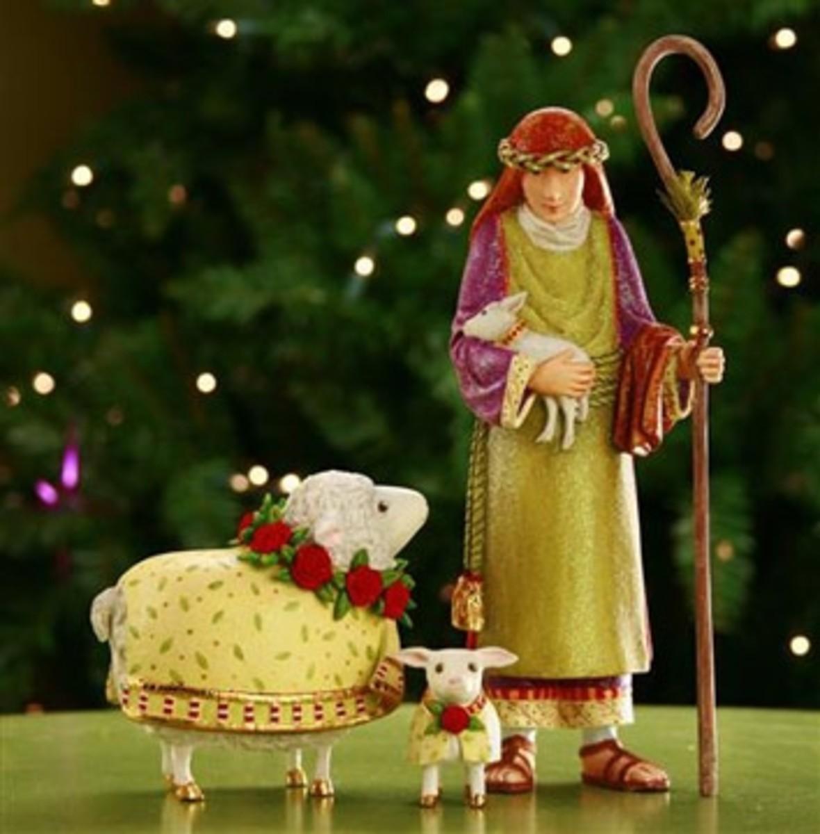 PB Shepherd and Two Lambs