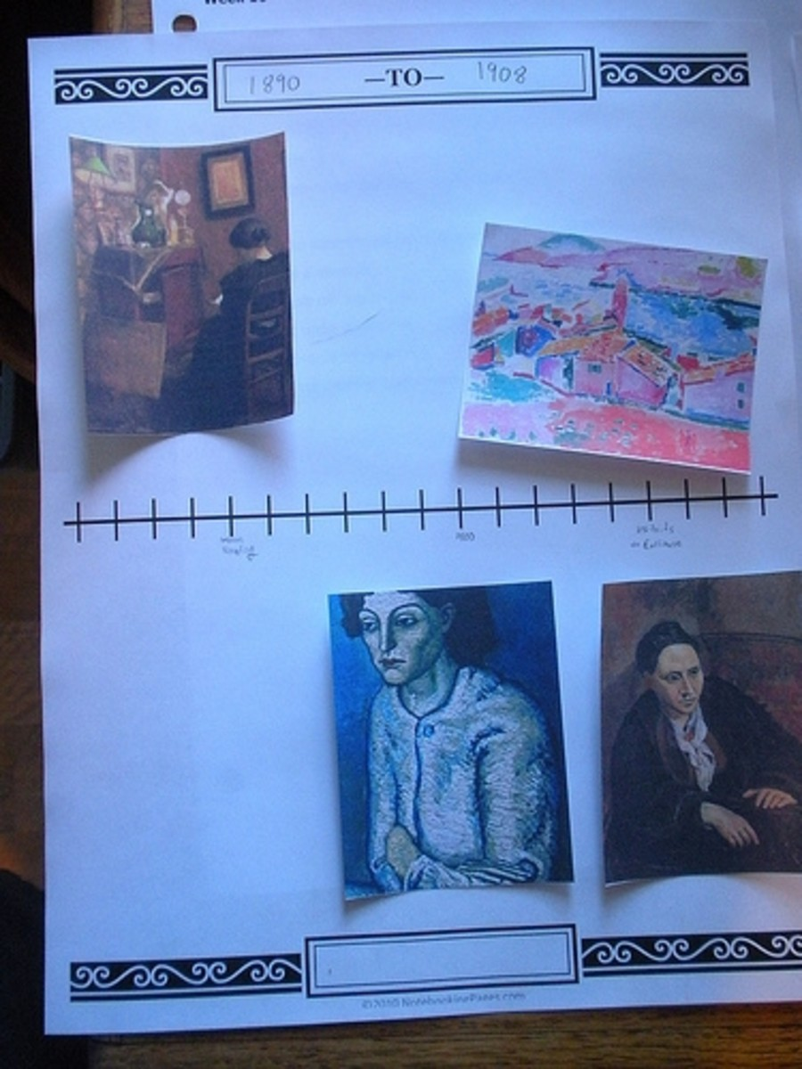 Timelines are a great tool even for high school age students. My sons add small images of artwork for artists they are studying to understand their relationships with each other. These pages are Book of Centuries pages from NotebookingPages.com.