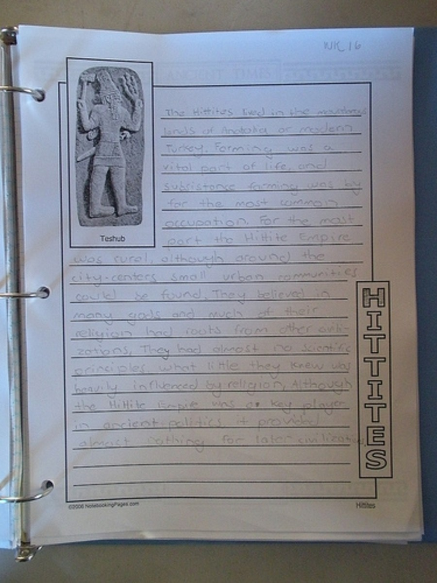 Ancient History Notebook Pages
