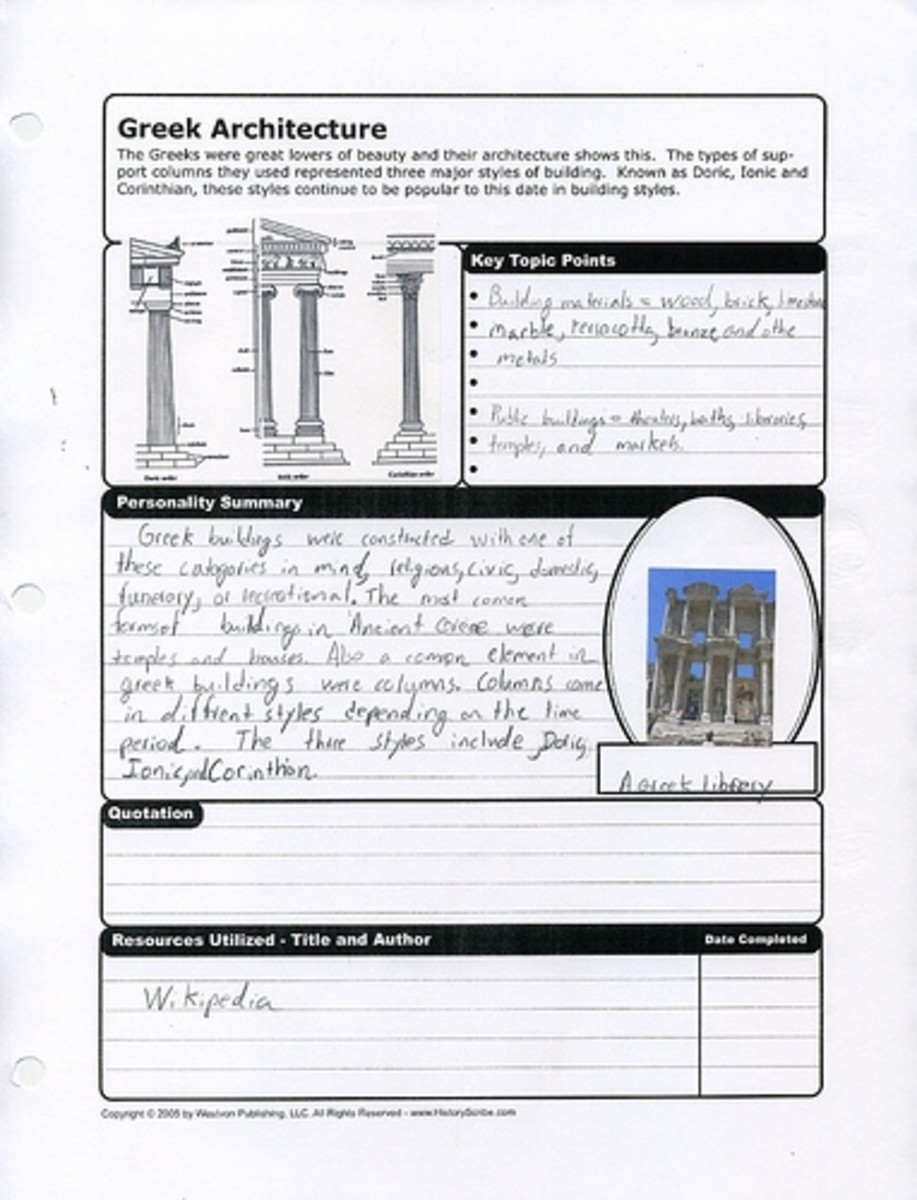 History research is easily organized by using an appropriate notebook page from History Scribe or History Scholar.