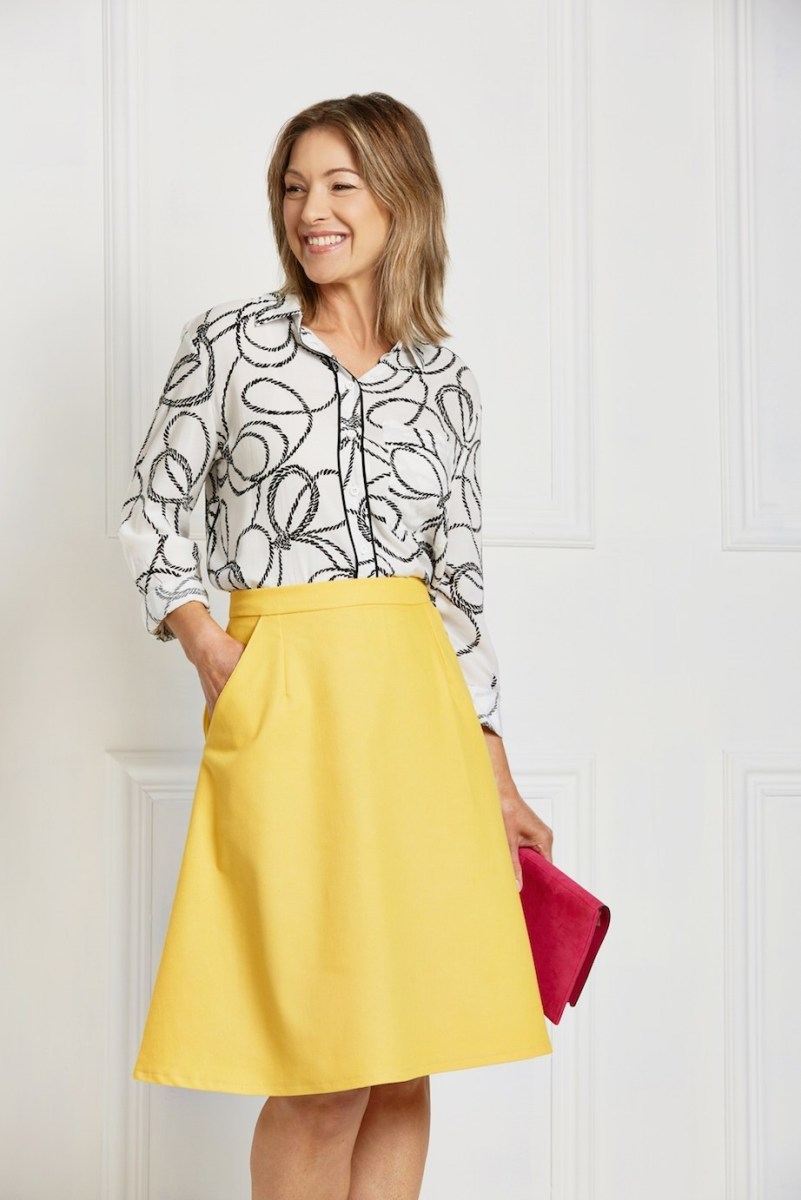 This is a classic A-line skirt.