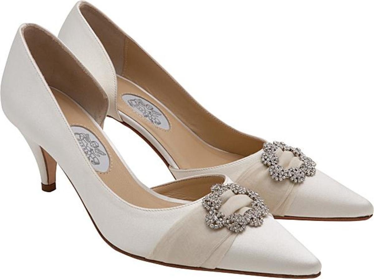 Classic and elegant - these shoes can be worn after the wedding festivities are over.