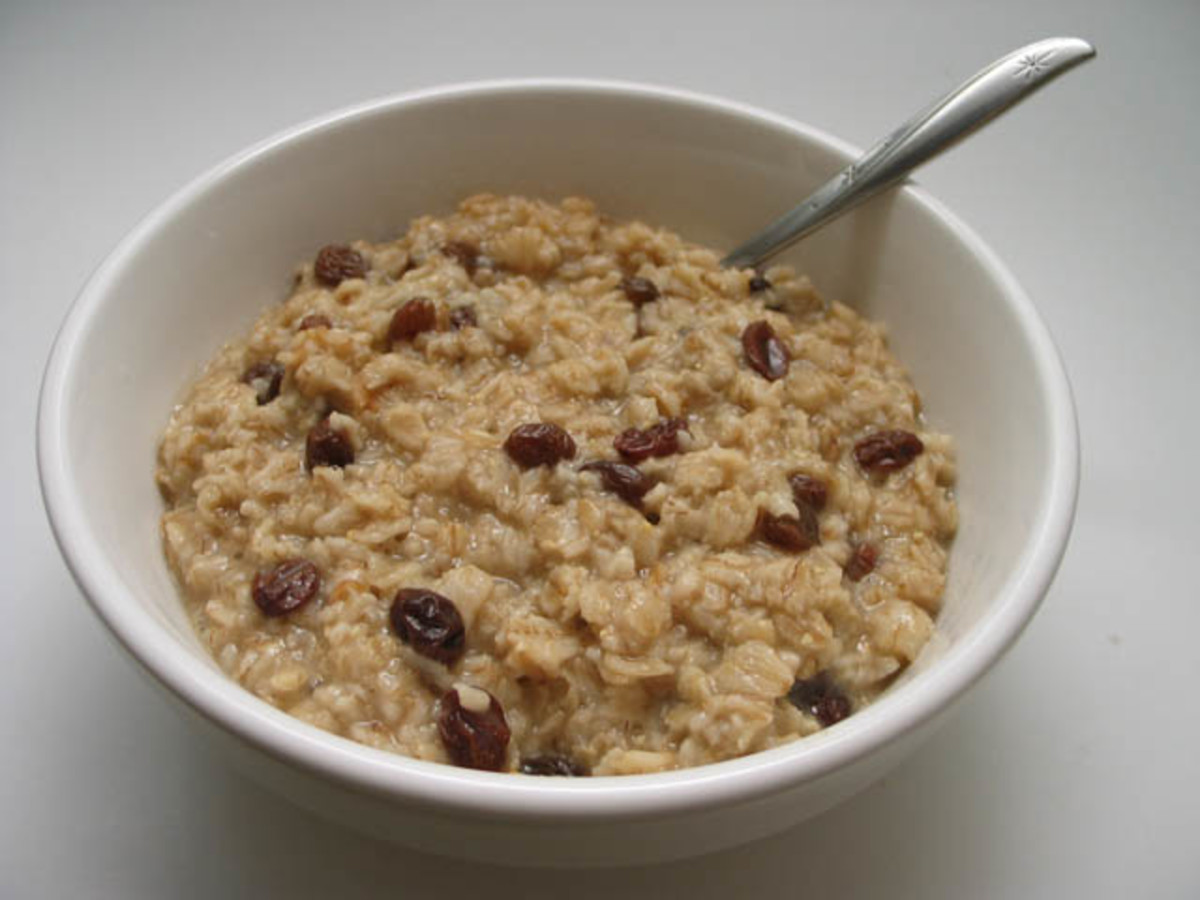A bowl of oatmeal daily in place of a high-fat meal, is also a great way to lower cholesterol.