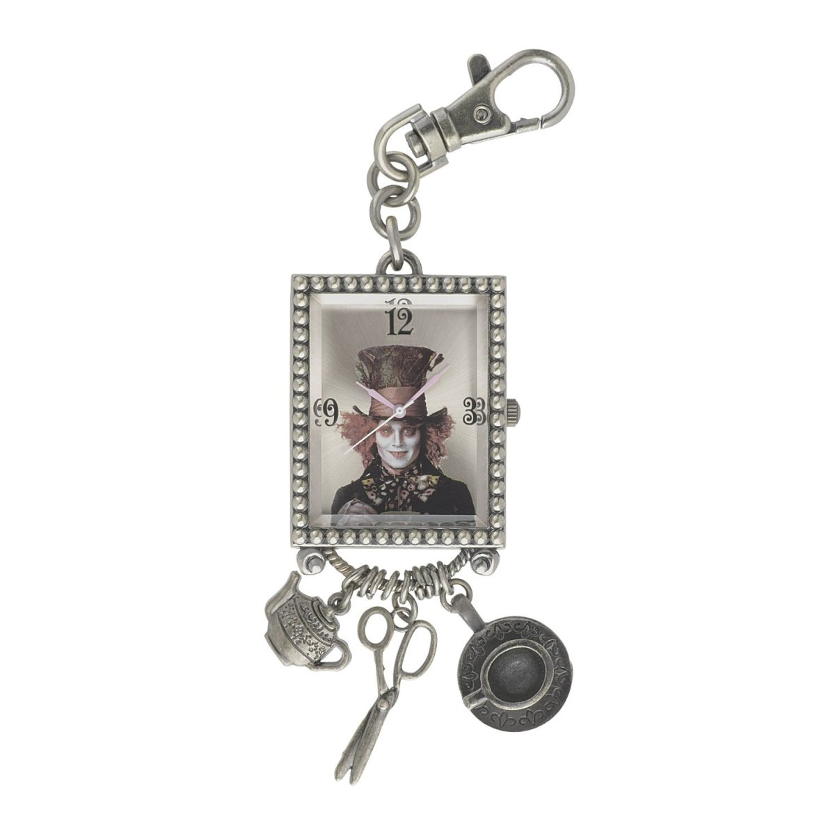 Alice in Wonderland Women's AL4024 Mad Hatter Gold Dial Key Chain Charm Watch by Disney