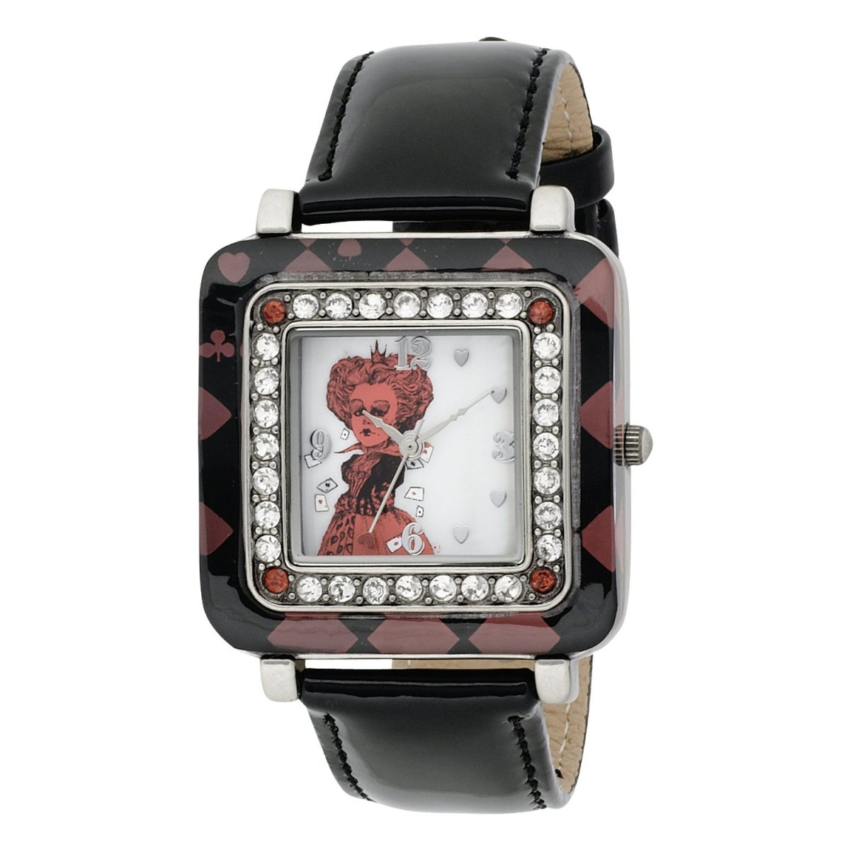 Alice in Wonderland Women's AL1012 Red Queen White Dial Black Strap Watch by Disney
