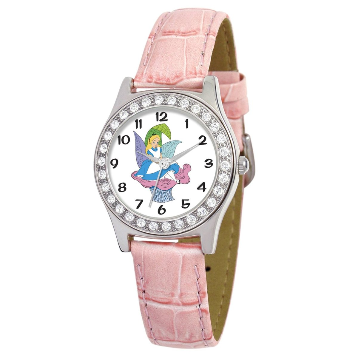 Disney Women's D1501S016 Queen Collection Alice in Wonderland Pink Leather Strap Watch by Disney