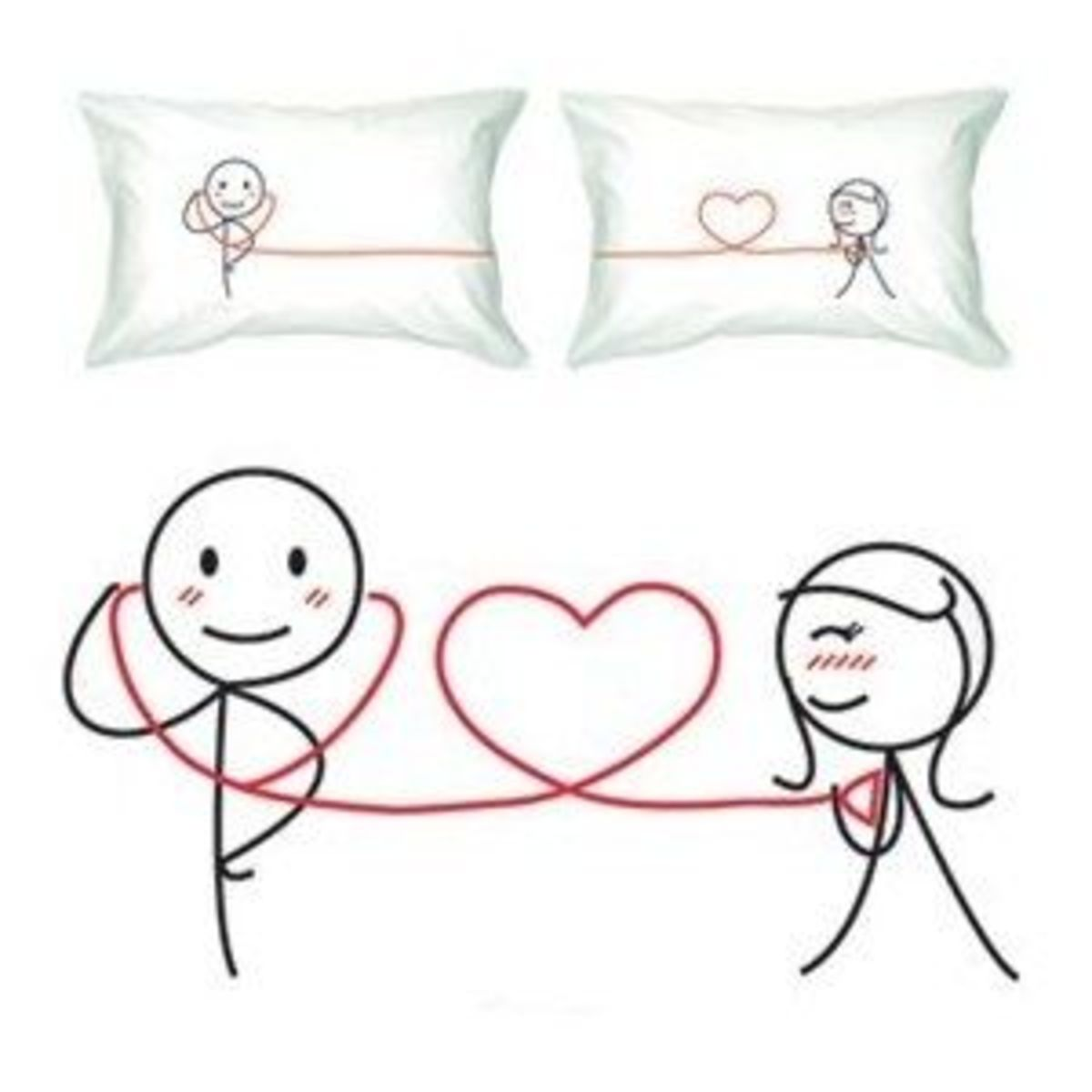 """My Heart Beats for You"" Romantic Pillow Case/Cover"