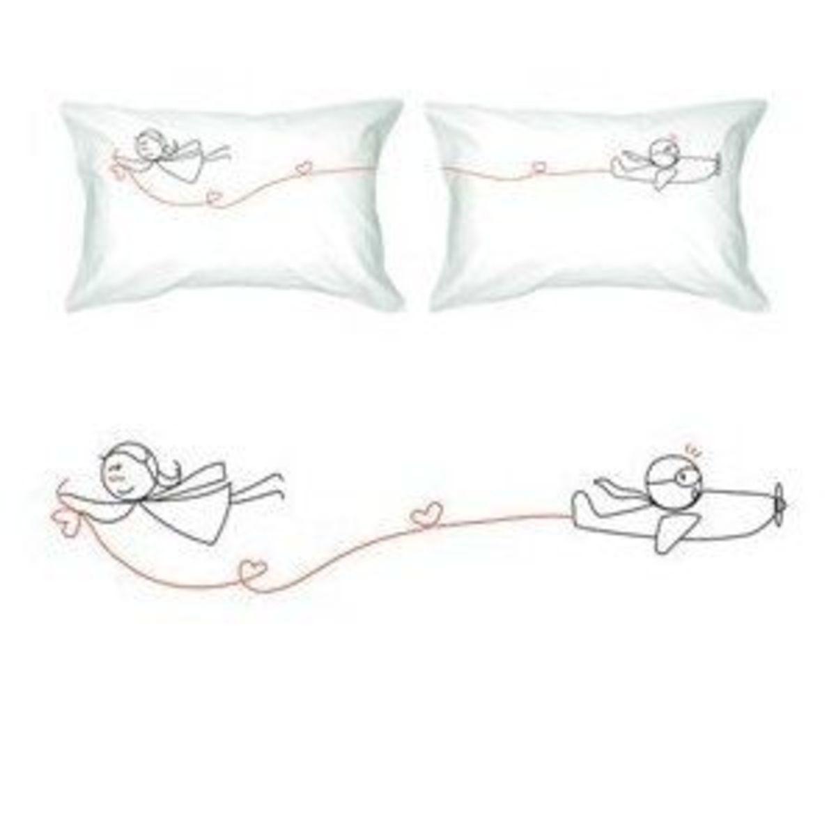 """""""Never Let Go"""" Romantic Pillow Case"""