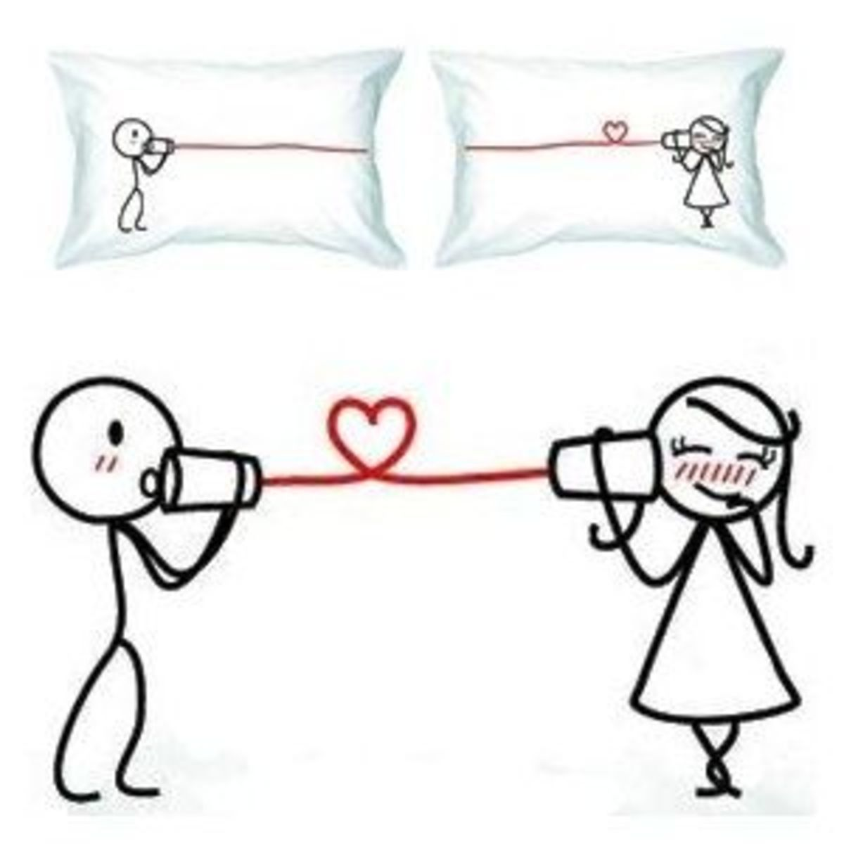 """""""I Love You"""" Romantic Pillow Cover/Case"""