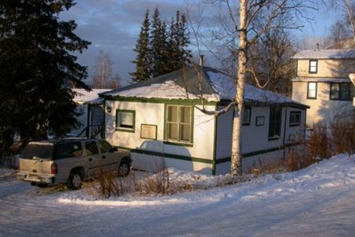 The Berton House in Dawson City, Yukon. Now used as a retreat for writers in residence.  .