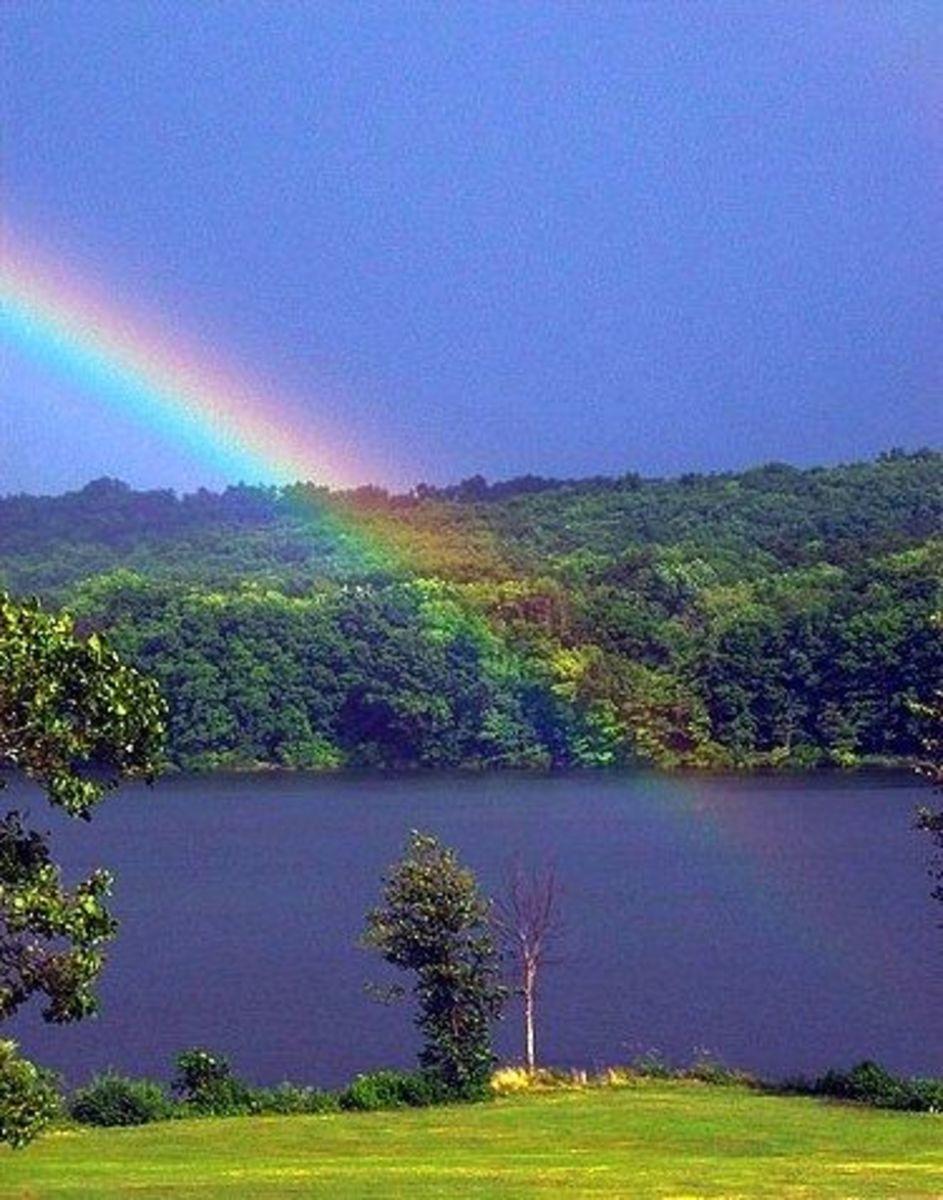 Rainbow to Lake