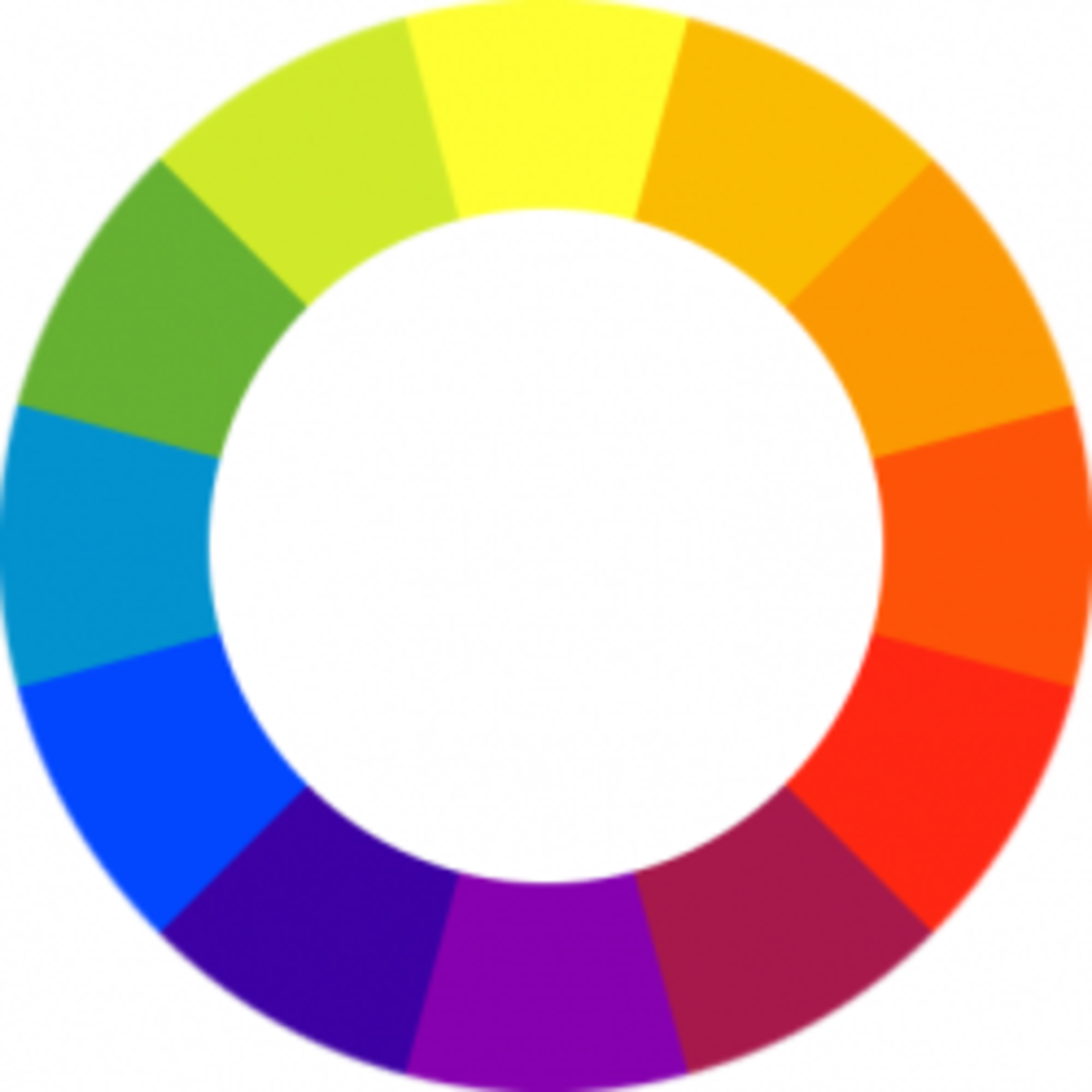 Colos of the rainbow with intermediate hues between ROYGBIV