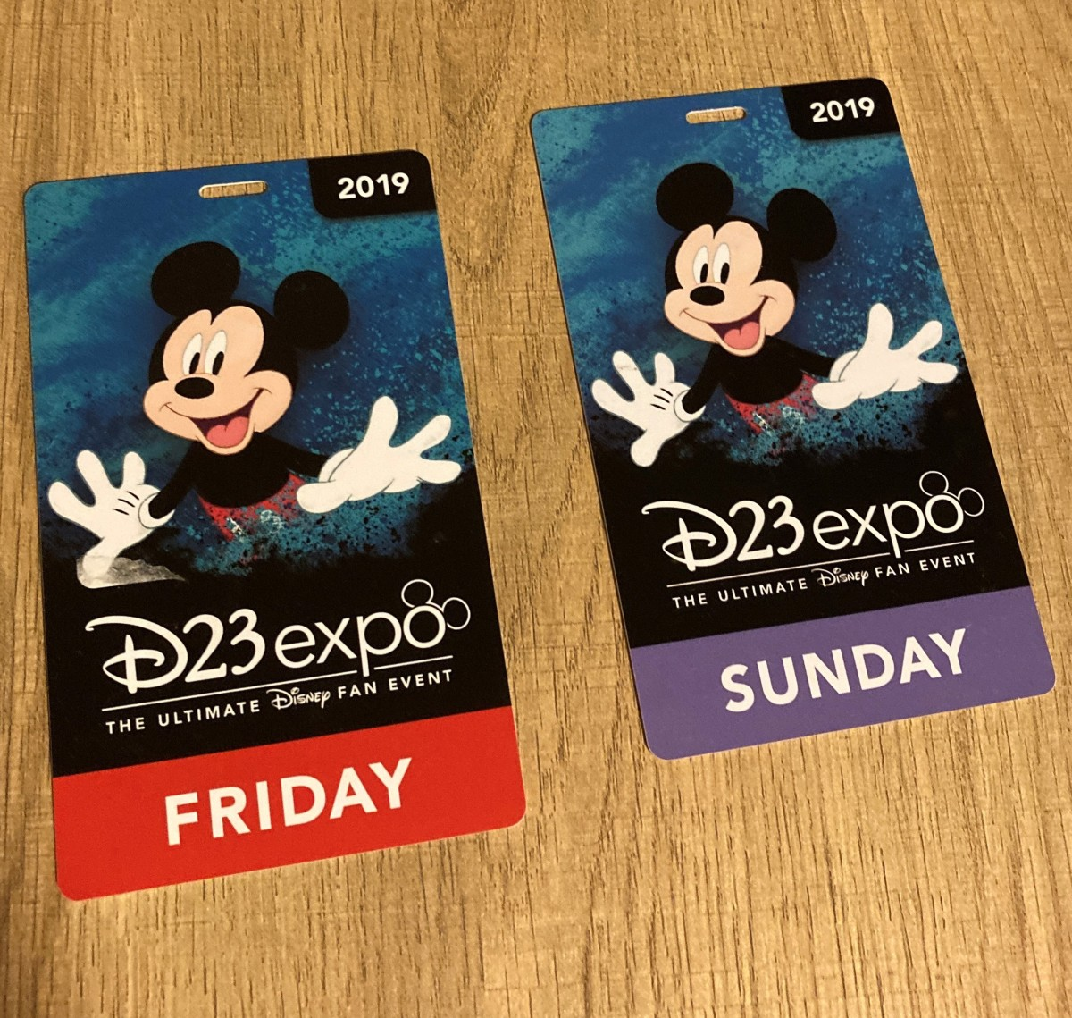 D23 Expo badges