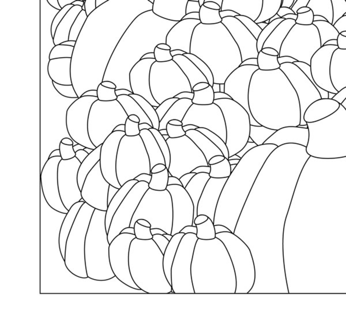 Plenty of Pumpkins Adult Coloring Poster
