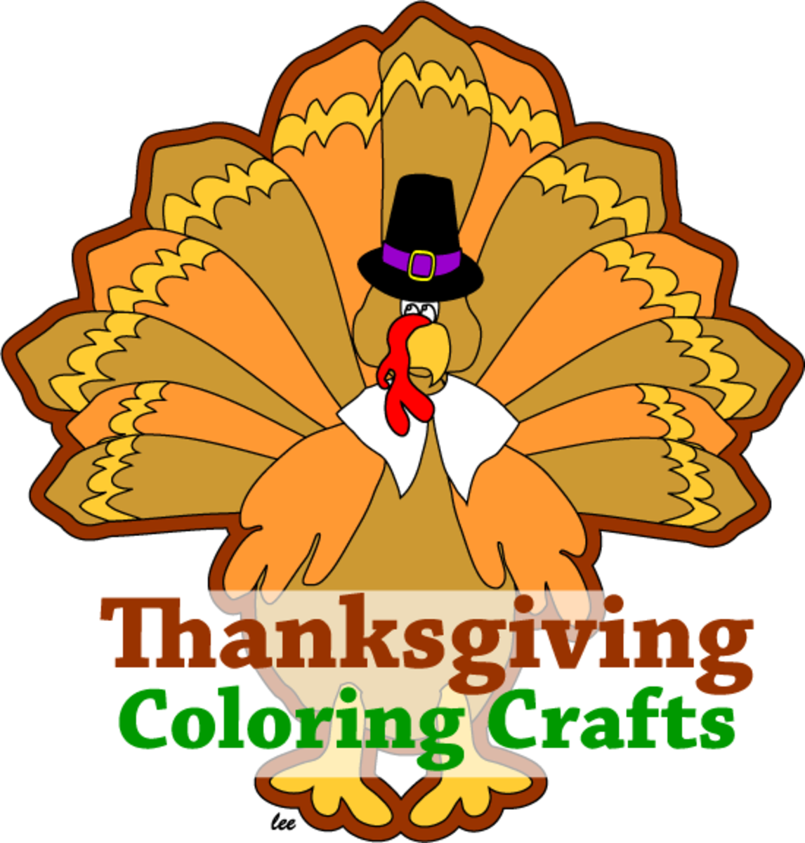 Thanksgiving coloring and crafts turkey logo