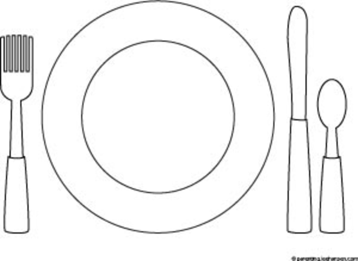 How to set the table coloring place mat sheet