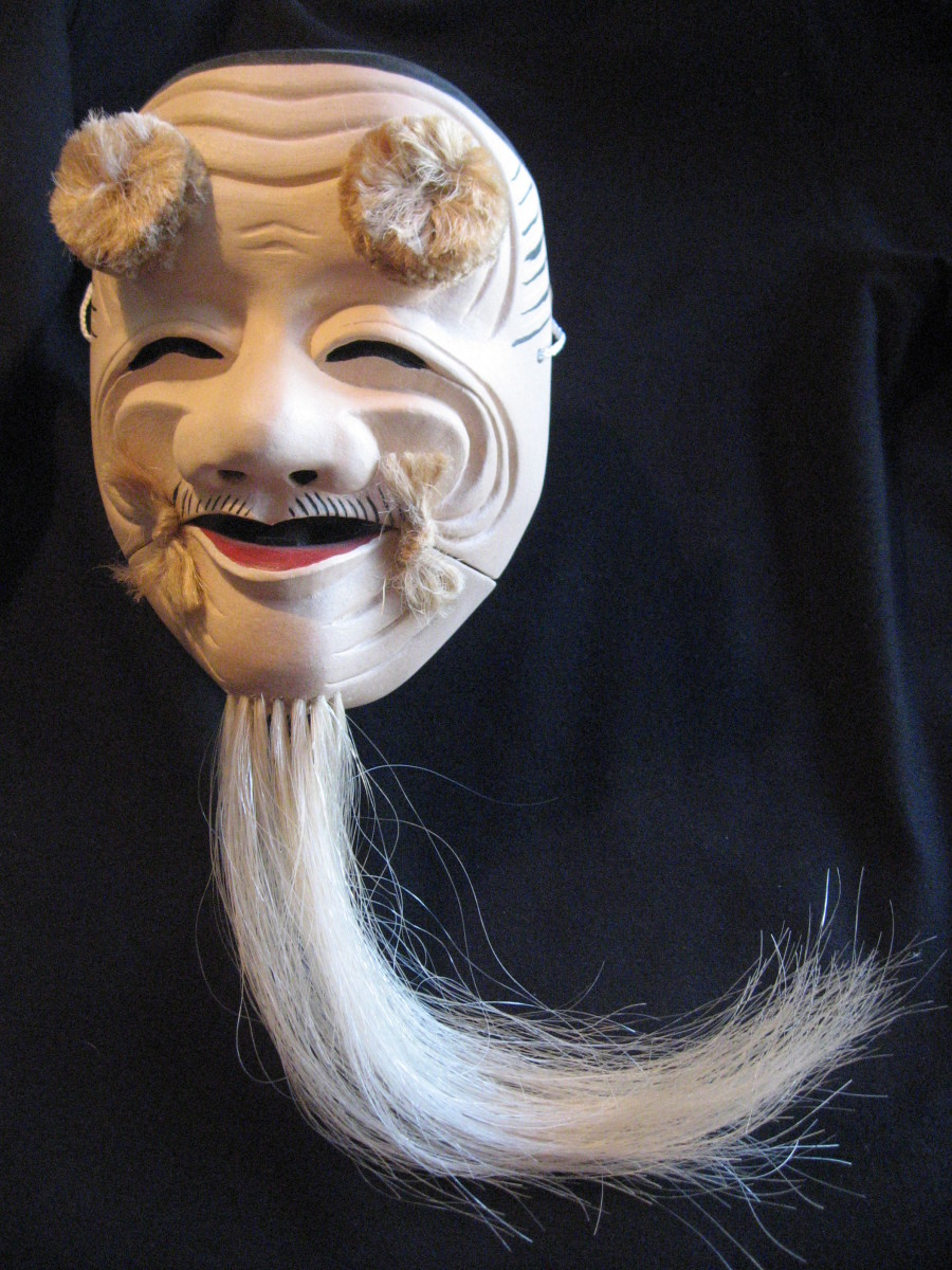 After studying Mask carving in Bali I found an excellent teacher of Japanese masks in Vancouver-John Patterson. As you can see my carving was improving with good instruction and the production of lots of woodchips.