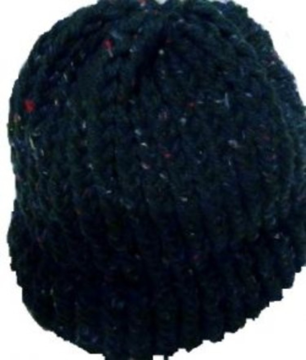 Basic Knifty Knitter Hat with Brim