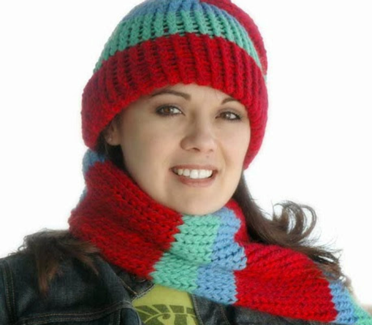 Multicolored Hat and Scarf