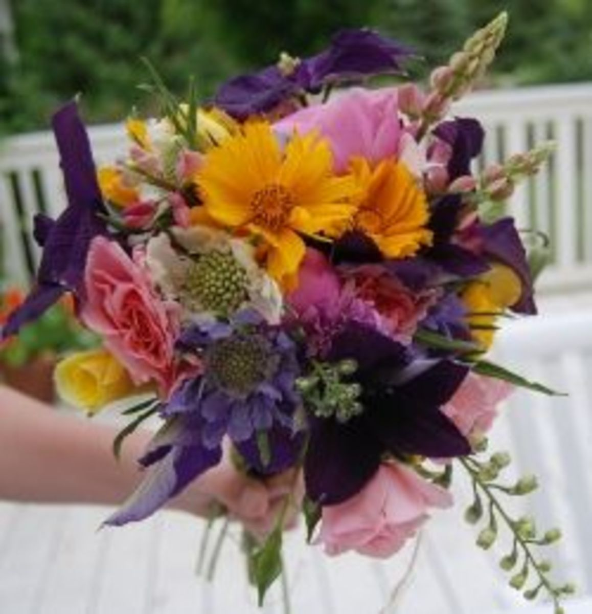 small fragrant bouquet of flowers