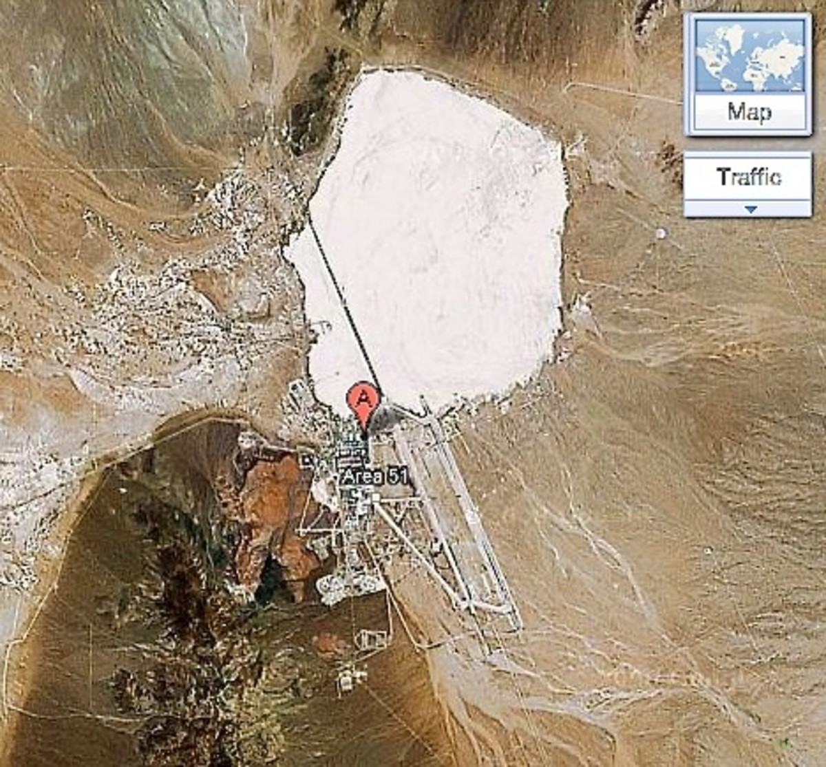 Area 51 for all to see on Google Maps