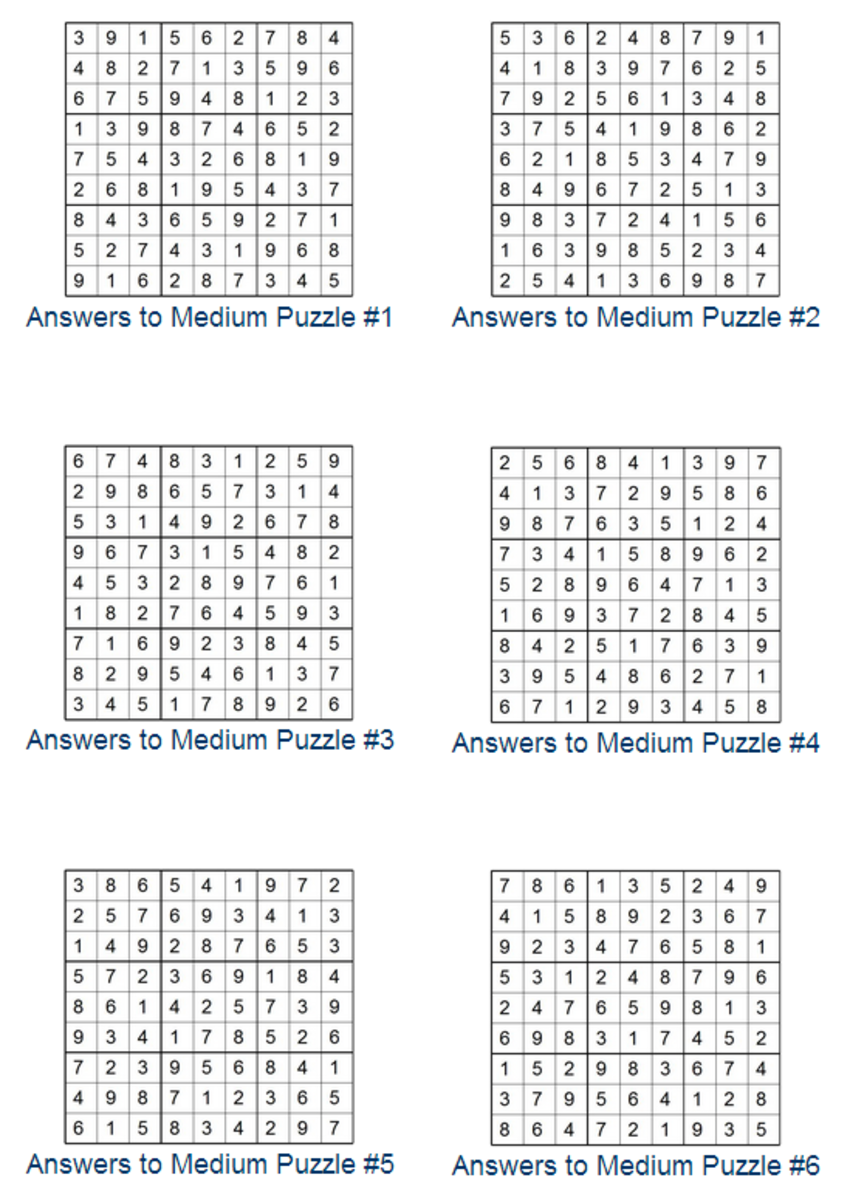 Print Sudoku Puzzles | HubPages