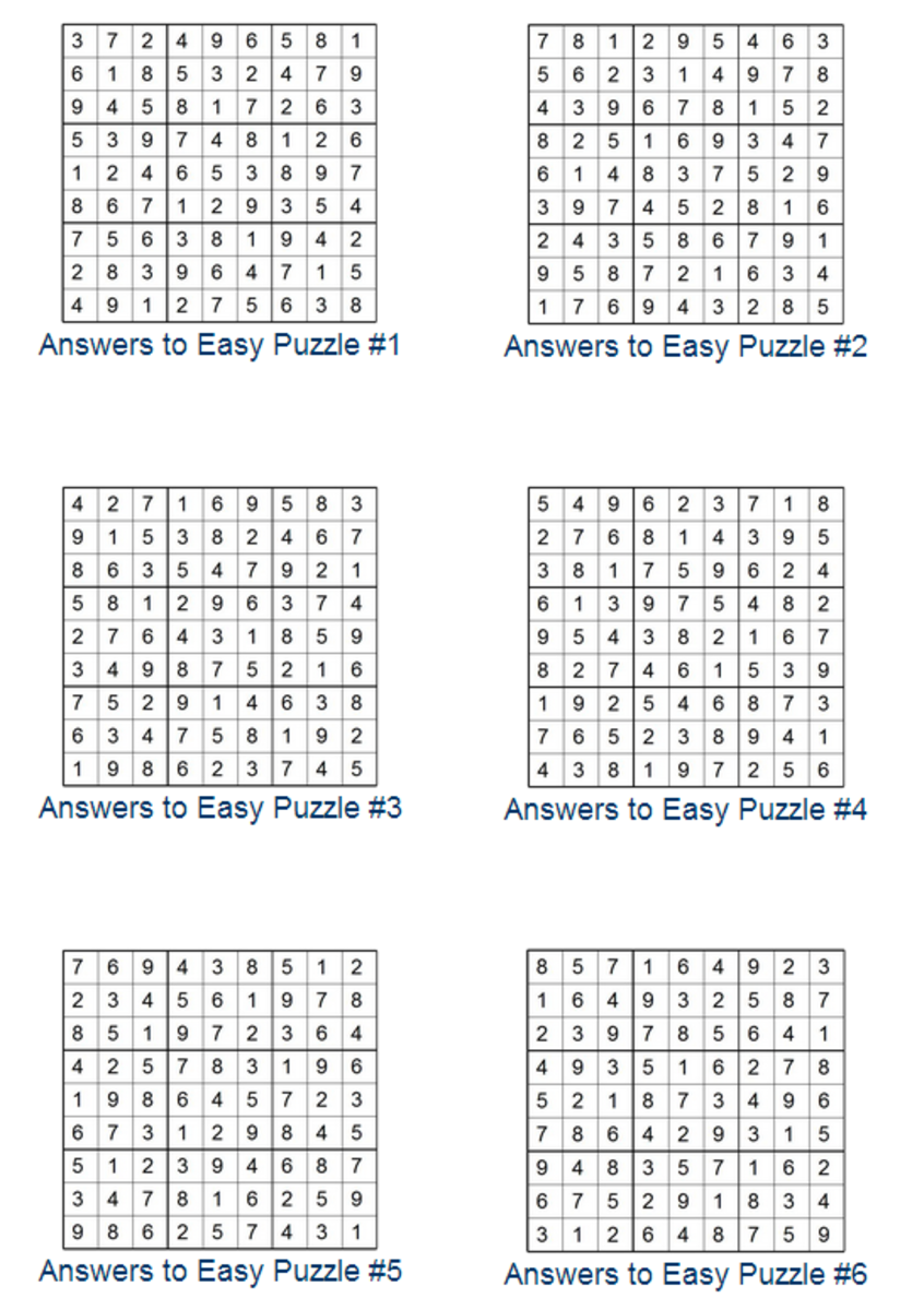 Print Sudoku Puzzles Hubpages