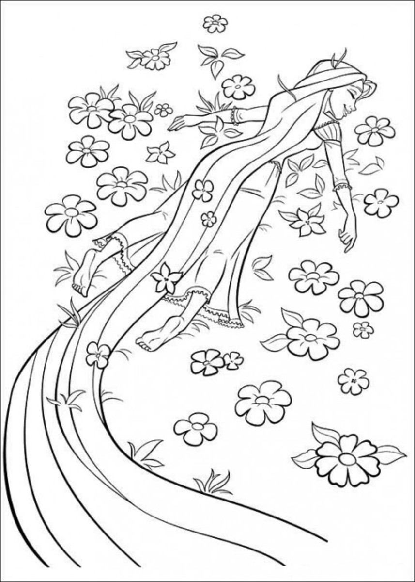 princess coloring pages tangled. Tangled Rapunzel Coloring
