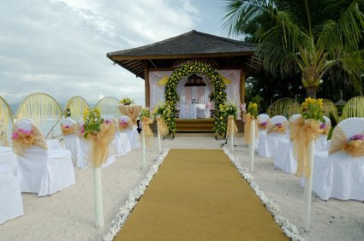 branch arches with white flowers for weddings