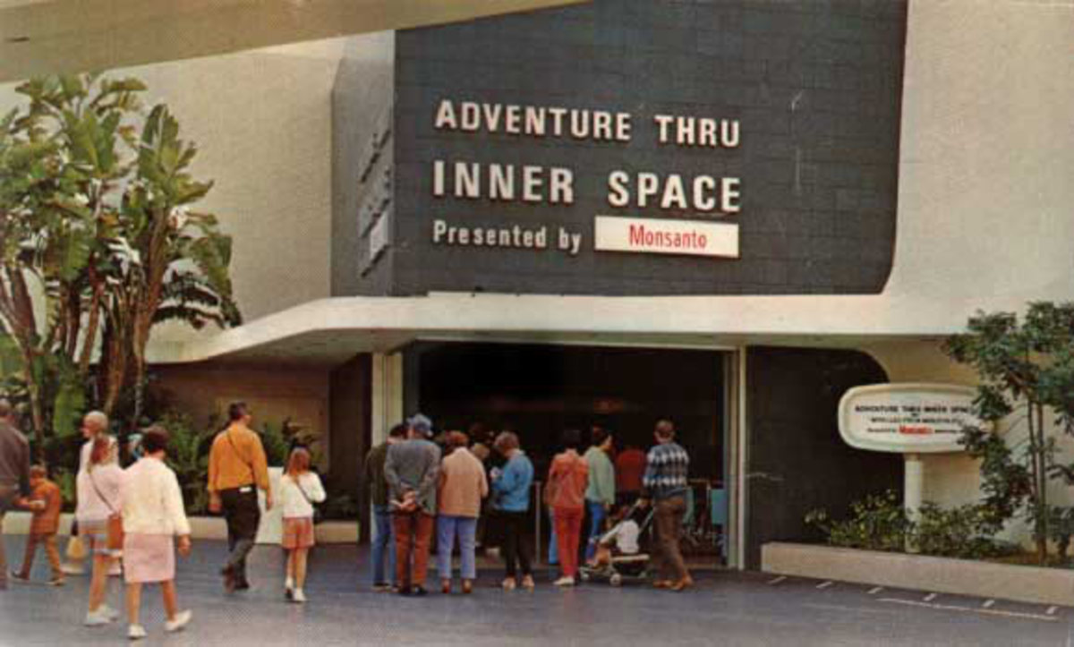 "The Outside of the ""Adventure Thru Inner Space Building."