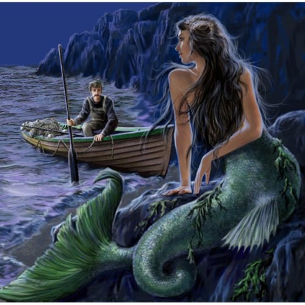 Were mermaids simply women with monofins?