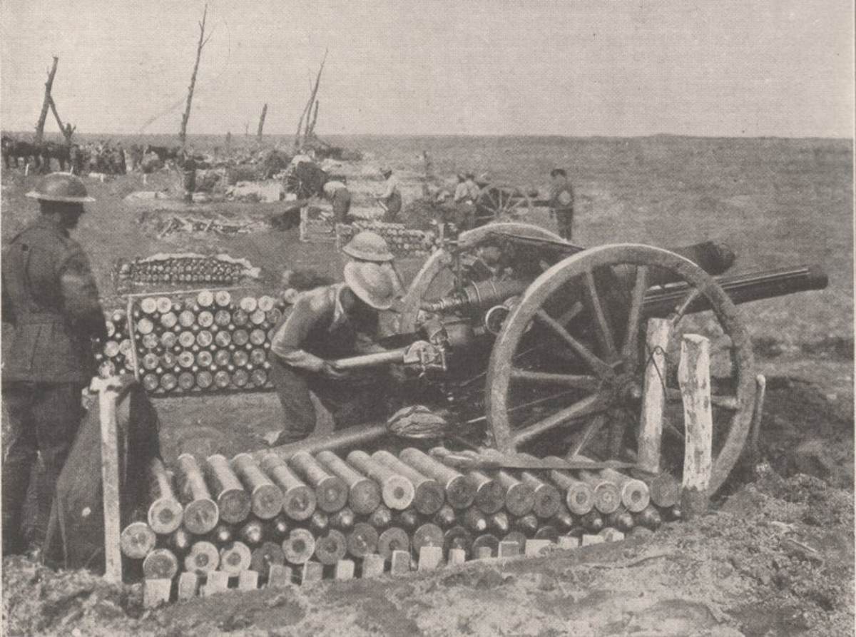 Australian gun crew in action in the Ypres sector, 28 September 1917