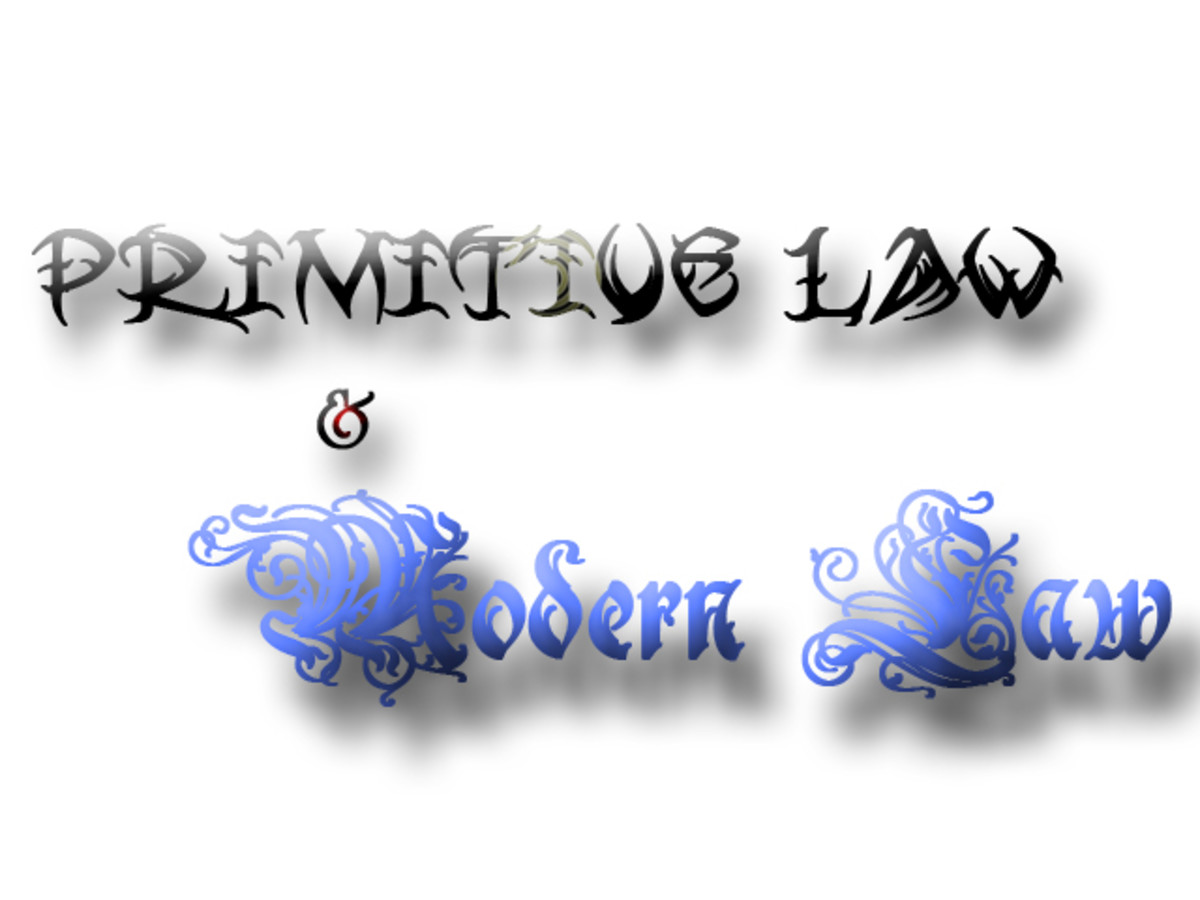 Difference between Primitive Law and Modern Law