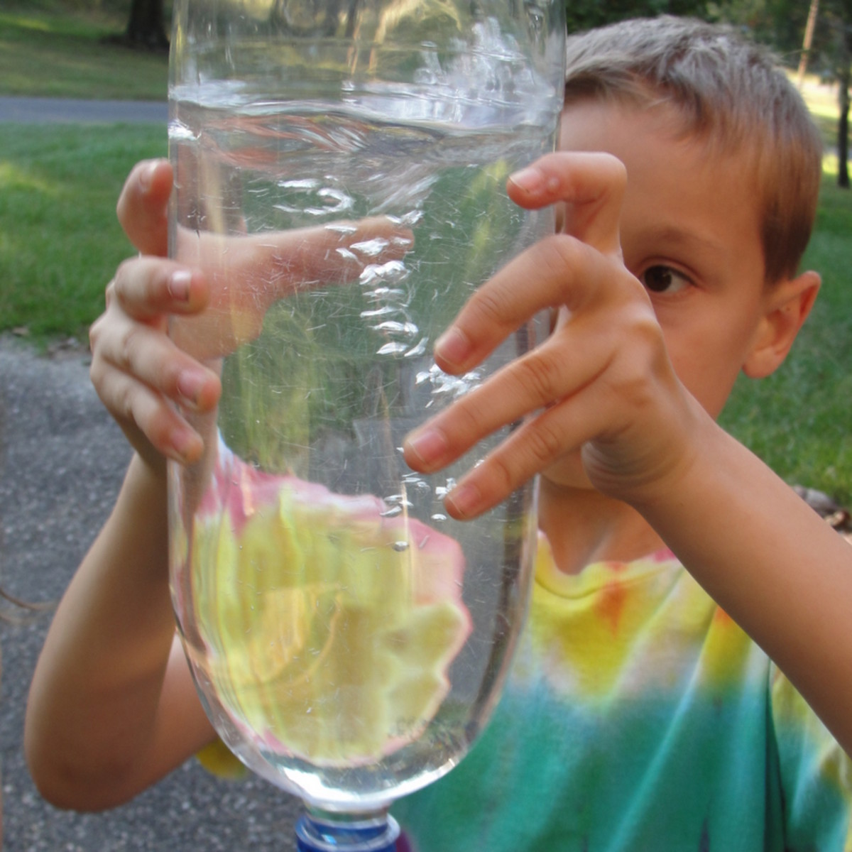 Tornado in a Bottle activity from Lesson 4: Tornadoes, Hurricanes, and Lightening Lesson