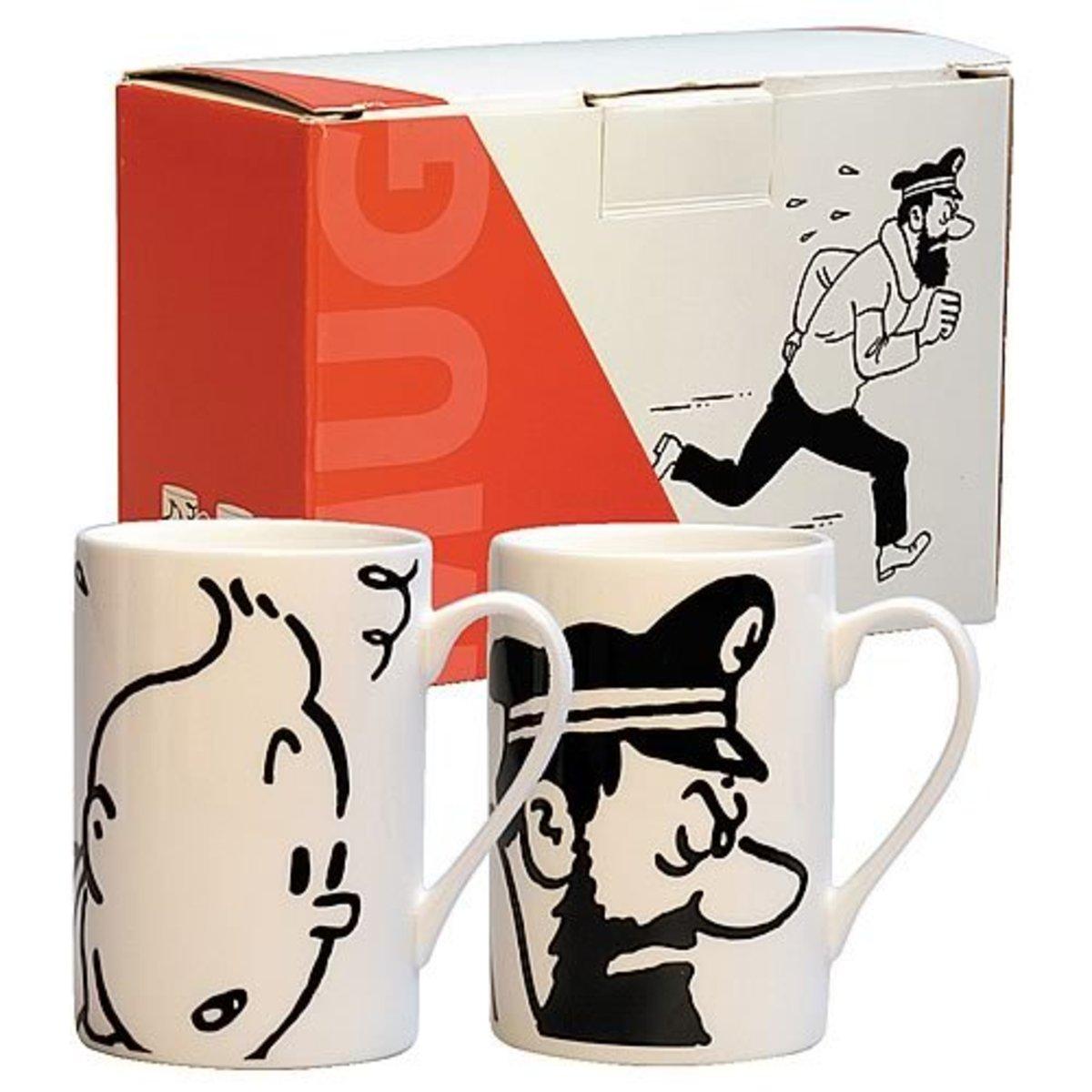 Tintin and Haddock Mug Set