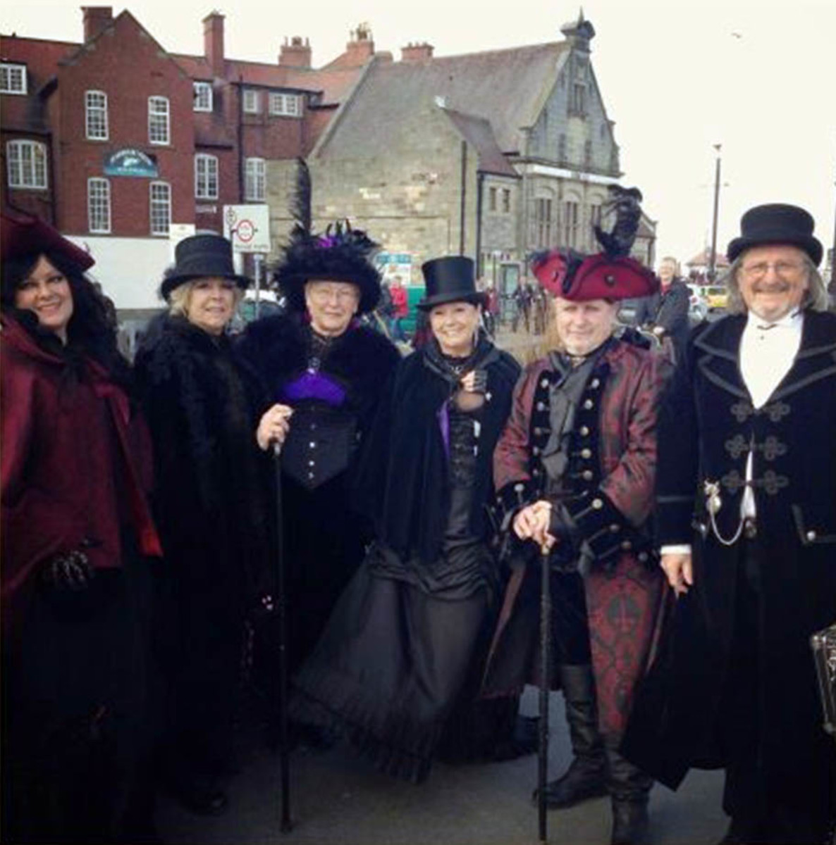 Whitby Goth Weekend, November 2013 - people like to dress up in Victorian outfits and dark make-up to commemorate Dracula Week