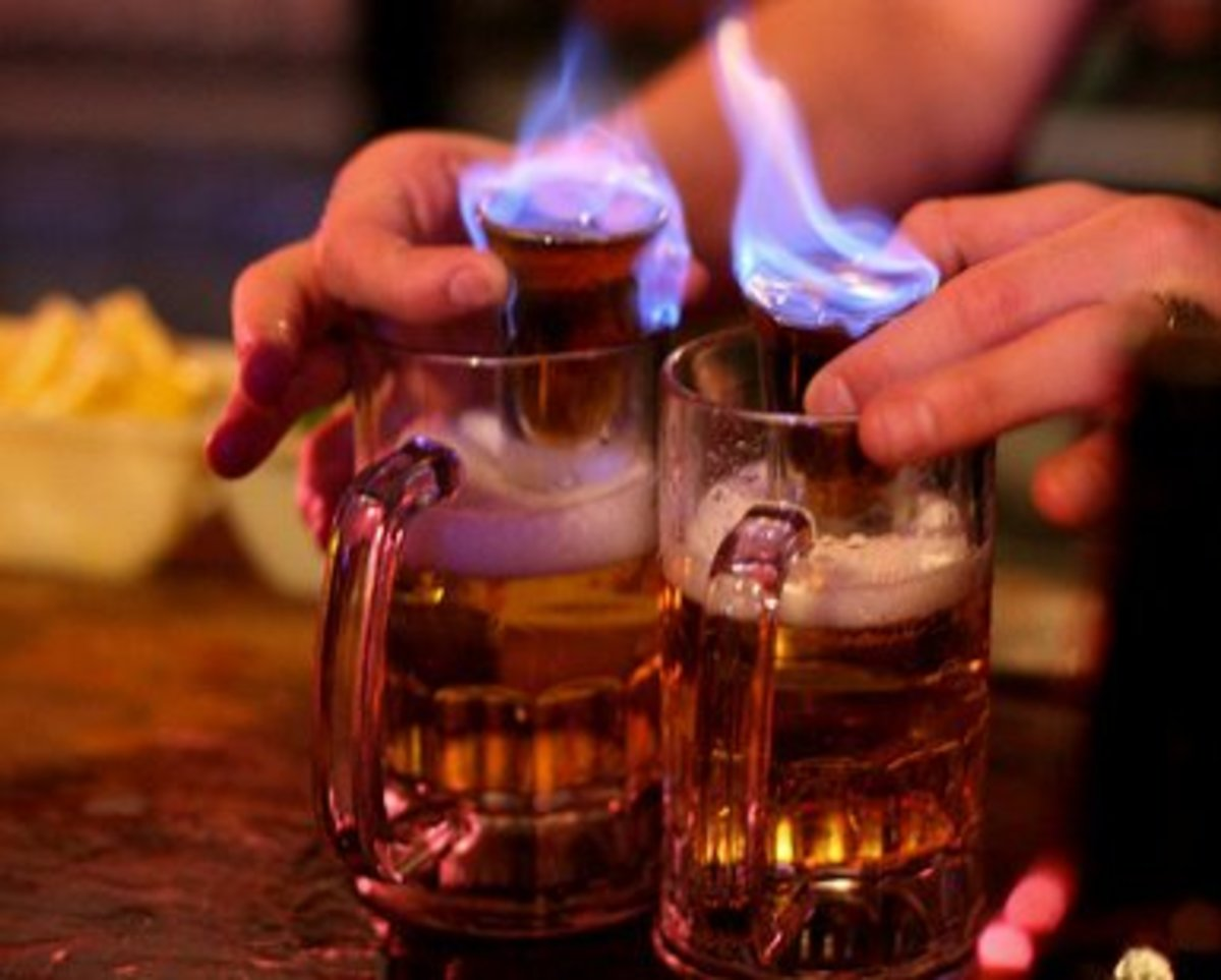 Flaming Cocktail Drinks, Fire Cocktail Recipes & Theme Cocktails, Alcohol Cocktails With Flames